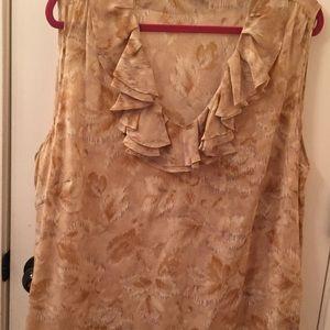 Talbots silk sleeveless blouse